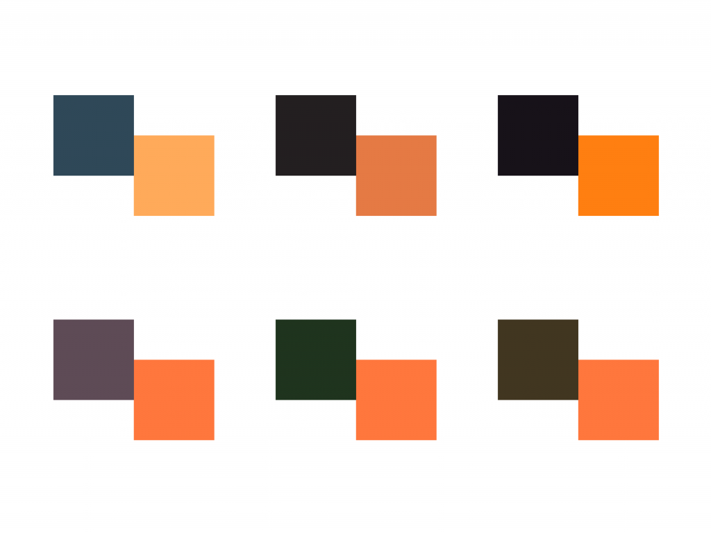 Colour exploration for the logo for Binnens Huis