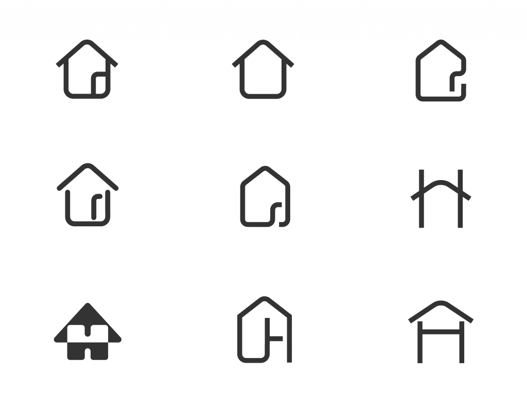 Icons for the logo for Binnens Huis