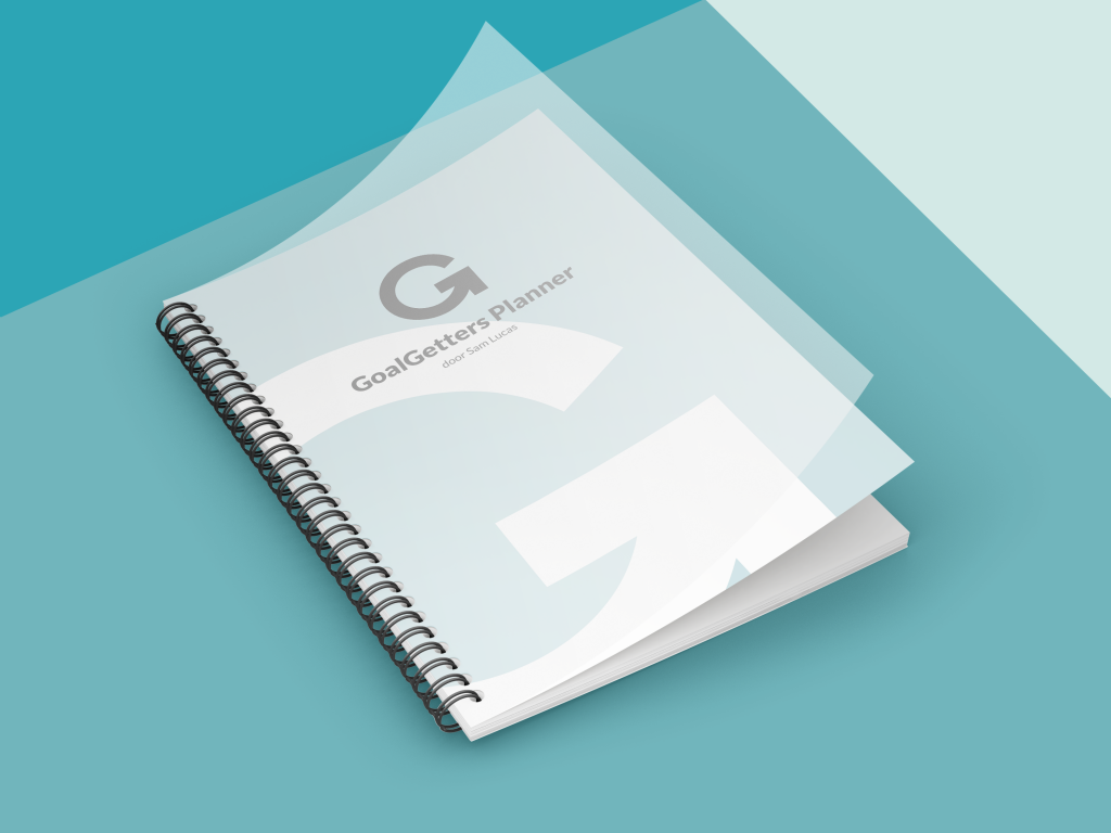 Cover of GoalGetters High Efficiency Planner Design. Image made for digital ad.