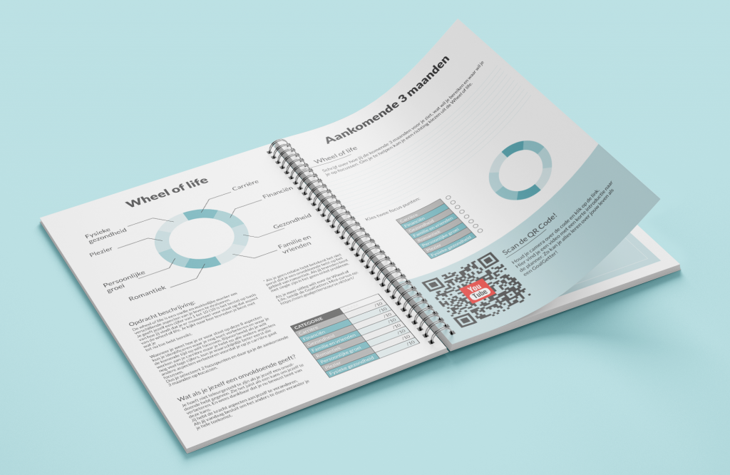 GoalGetters High Efficiency Planner Design from the inside. Image made for digital ad.